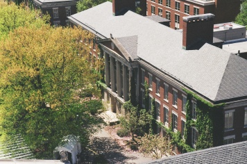 A trip to my alma mater, the University of Rochester, in Upstate NY. Overlooking Morey Hall from the Rush Rhees Library